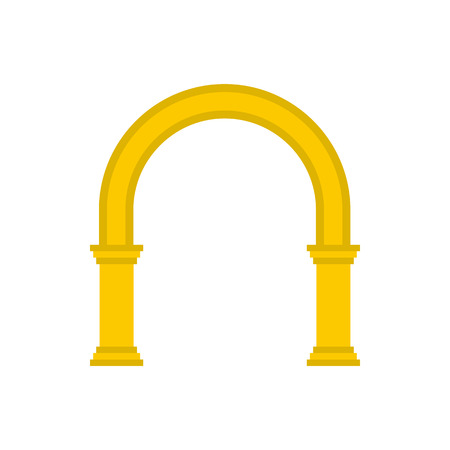 Golden arch icon in flat style on a white background