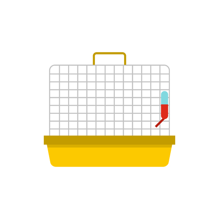 Animal cage icon in flat style on a white background 版權商用圖片