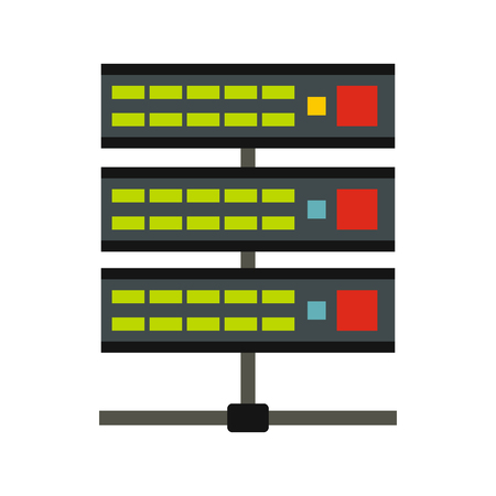 Data storage icon, flat style