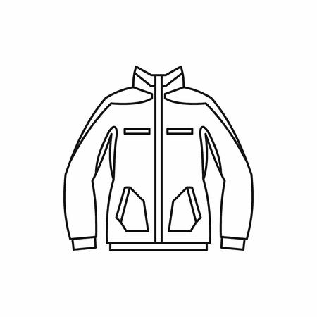 Men winter jacket icon in outline style isolated on white background. Clothing symbol illustration Stock Photo