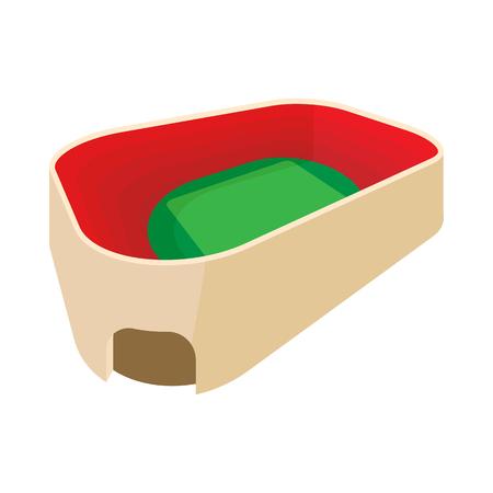 Stadium with green field icon, cartoon style Stock Photo