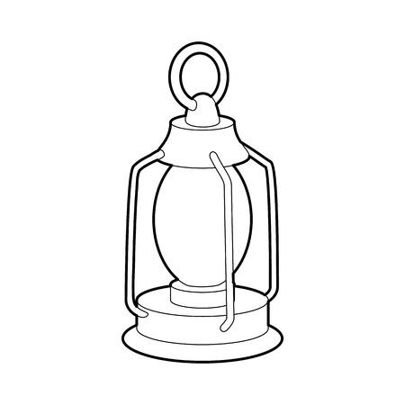 Kerosene lamp icon, outline style