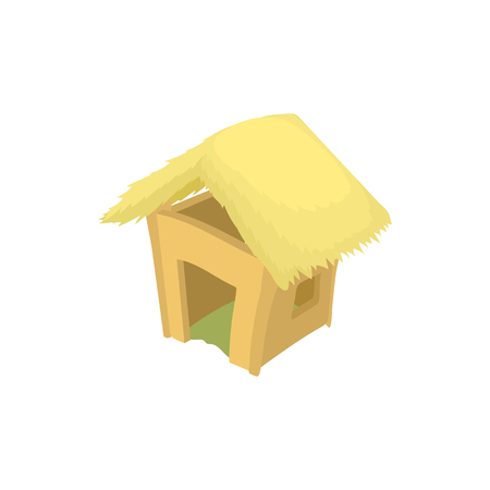 Shack icon, cartoon style Stock Photo