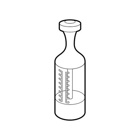Vape atomizer icon, outline style