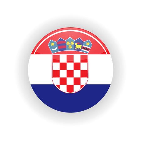 Croatia icon circle Stock Photo