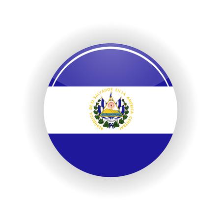 Círculo de icono de Salvador Foto de archivo