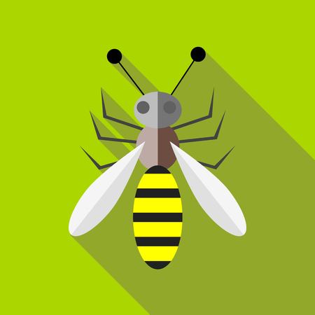 Bee icon, flat style