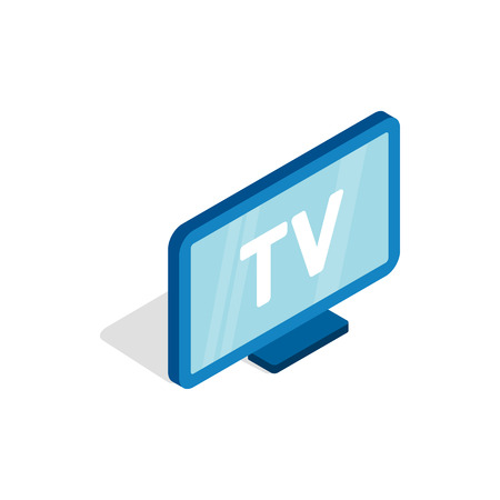 TV screen icon, isometric 3d style