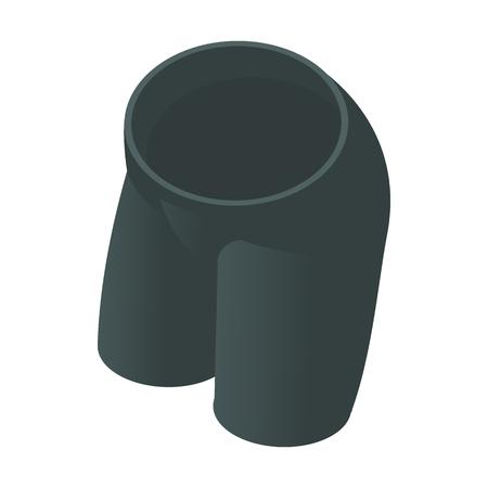 Black tight cycling shorts icon, cartoon style Stock Photo