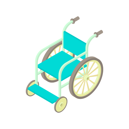 Wheelchair icon in cartoon style