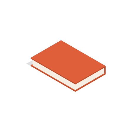 Red book icon, isometric 3d style Фото со стока