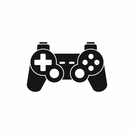 Game controller icon in simple style on a white background