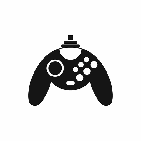 Gamepad icon in simple style on a white background