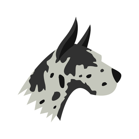 Great dane dog icon, flat style Banque d'images - 106237450