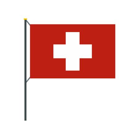 Flag of Switzerland icon, flat style