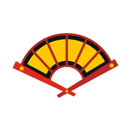 Fan icon, flat style Stok Fotoğraf - 106237536