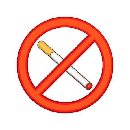 Smoking is prohibited icon, cartoon style