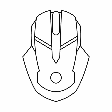 Gaming mouse icon, outline style Banco de Imagens