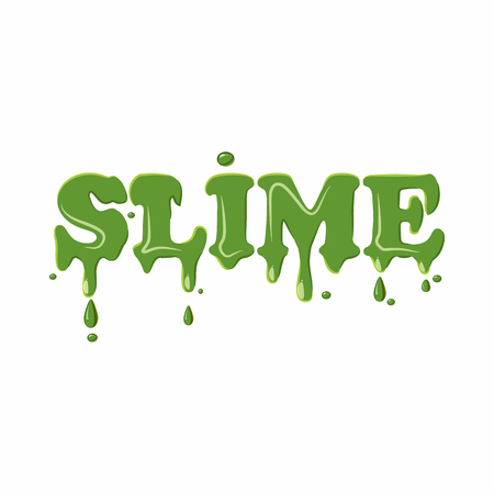 Slime word isolated on white background