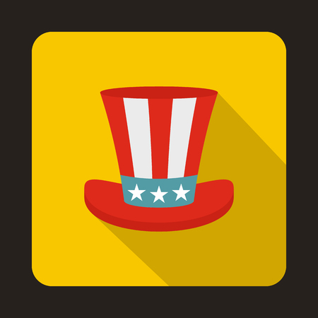 Uncle Sam hat icon in flat style isolated with long shadow Stock Photo