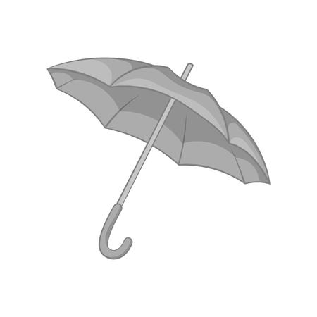 Umbrella icon, black monochrome style 写真素材