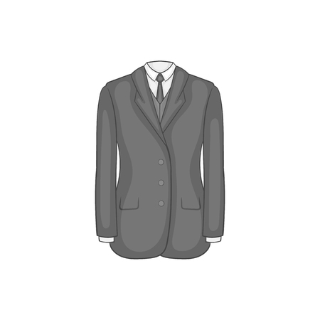 Man suit with tie icon, black monochrome style Reklamní fotografie