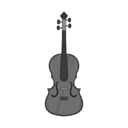 Cello icon, black monochrome style Stock Photo