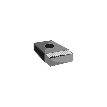 Matchbox icon, black monochrome style Stock Photo