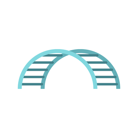 Climbing stairs on a playground icon in flat style on a white background illustration