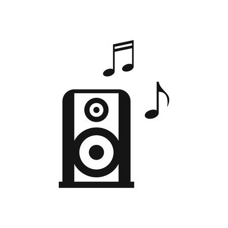 Portable music speacker icon, simple style