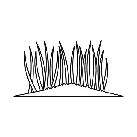 Grass icon, outline style