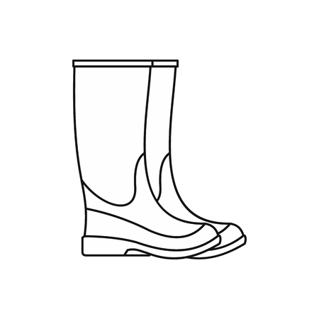 Rubber boots icon, outline style