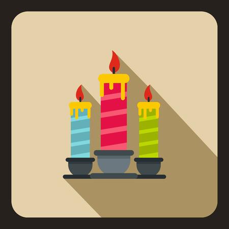 Birthday candles icon, flat style 写真素材