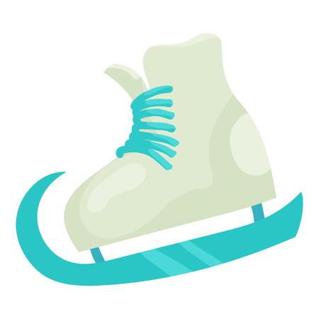 Figure skate icon, cartoon style Stock Photo