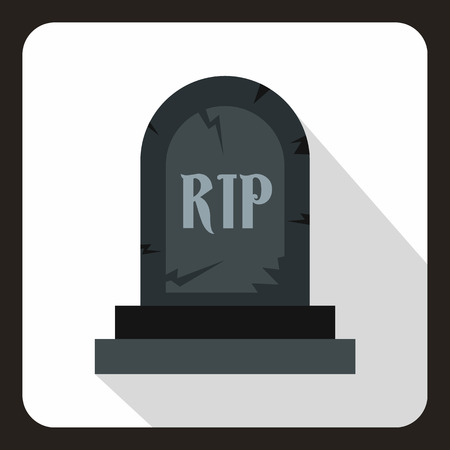 Tombstone icon in flat style