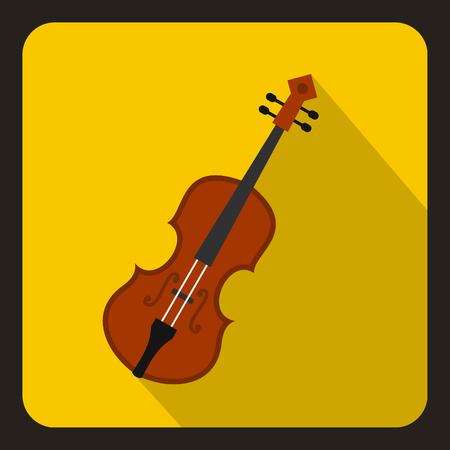 Cello icon, flat style