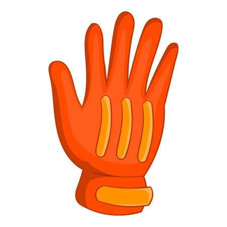 Snowboard sport glove icon, cartoon style Stock Photo
