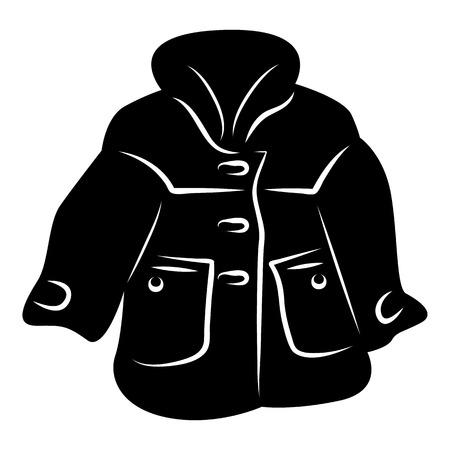 Women coat icon, simple style Stock Photo