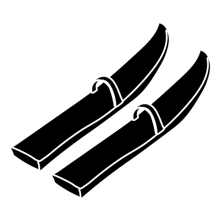 Skis icon in simple style Banque d'images - 106482115