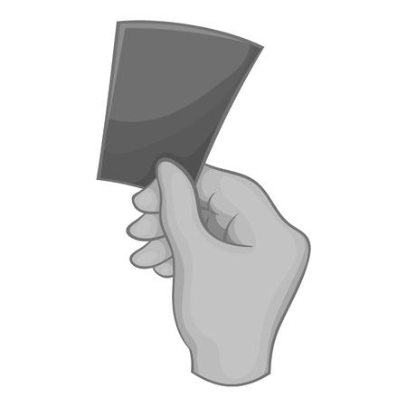 Card football icon, black monochrome style