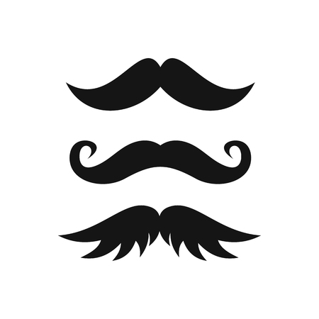 Moustaches icon in simple style on a white background illustration Stock Photo