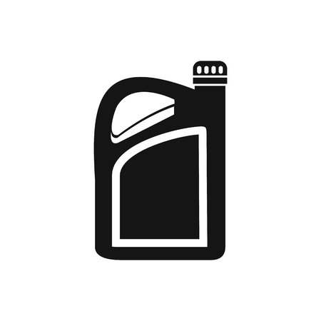 Jerrycan icon in simple style on a white background illustration