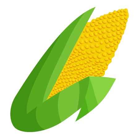 Corn icon in cartoon style isolated on white background. Food symbol illustration