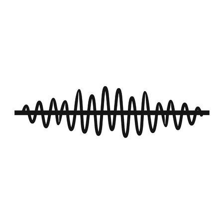 Sound wave icon in simple style on a white background illustration