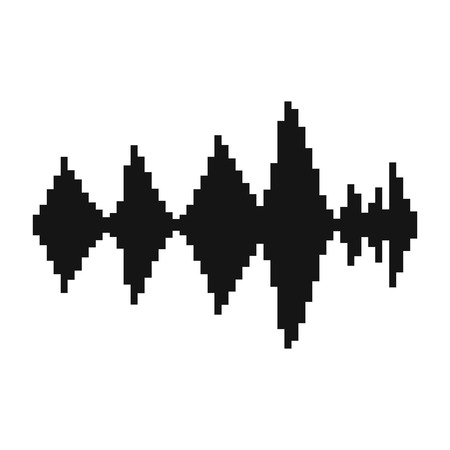 Audio digital equalizer technology icon in simple style on a white background illustration