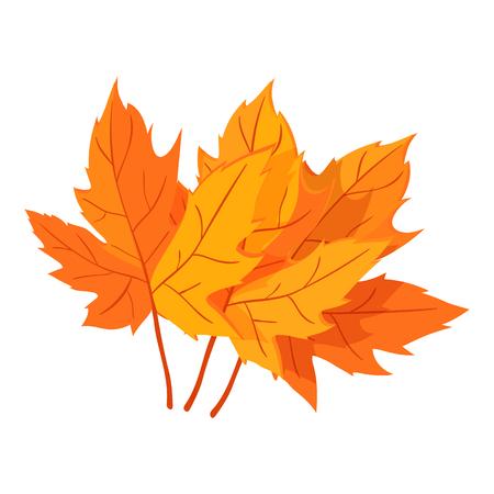 Autumn leaves icon, cartoon style Stock Photo