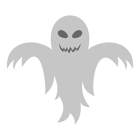 Ghost icon, flat style