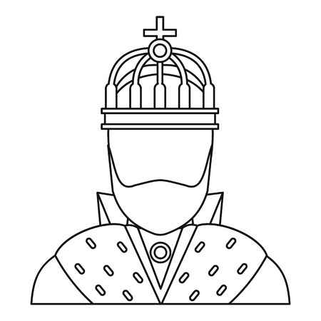 King icon in outline style