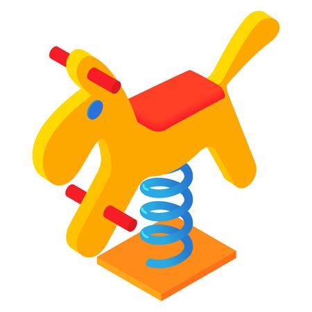 Horse swing icon, cartoon style Stock Photo