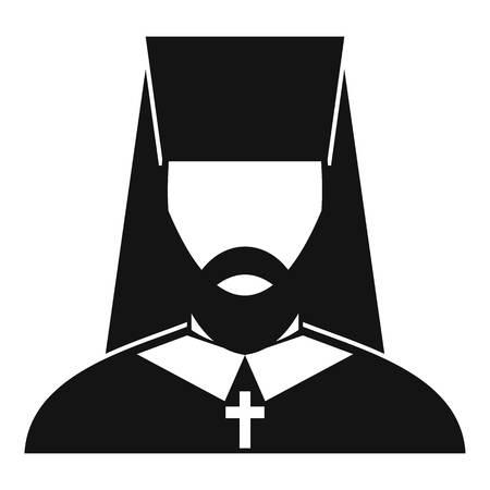 Orthodox priest icon, simple style